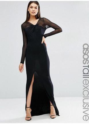 Макси платье сразрезом asos