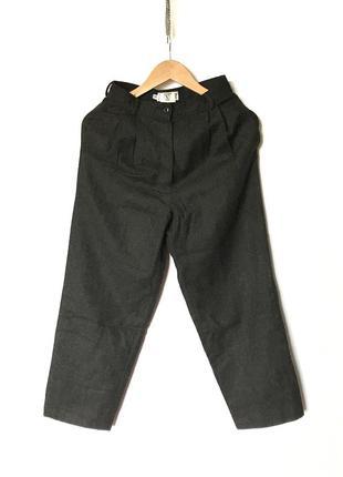 Винтажные широкие шерстяные брюки valentino высокая талия