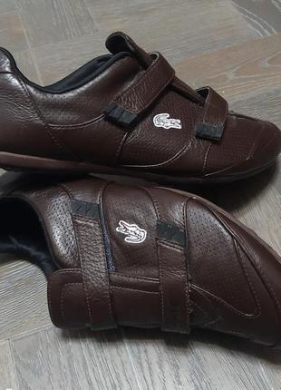 Lacoste, кожаные кроссовки, туфли.