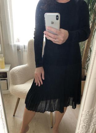 Идеальное базовое платье плиссе натуральный состав