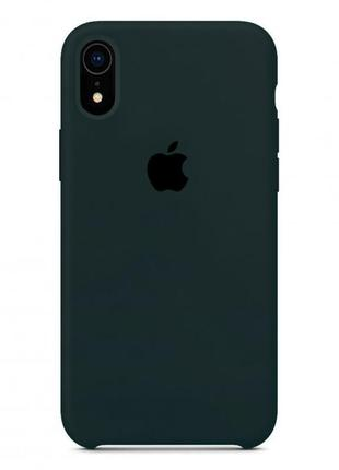 Чехол silicone case apple iphone x/xs forest green