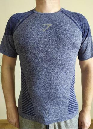 Компресійна футболка gymshark для бодібілдингу, фітнесу, заняття спортом. оригінал