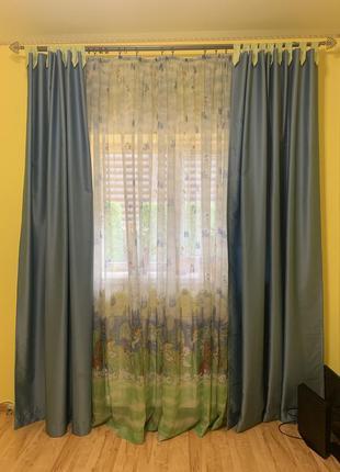 Тюль+шторы для детской комнаты