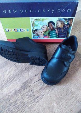 Кожаные туфли на липучке pablovsky р.32