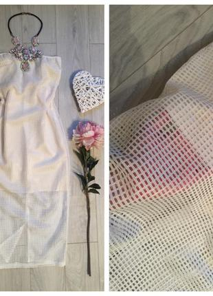 Красивое платье сетка миди
