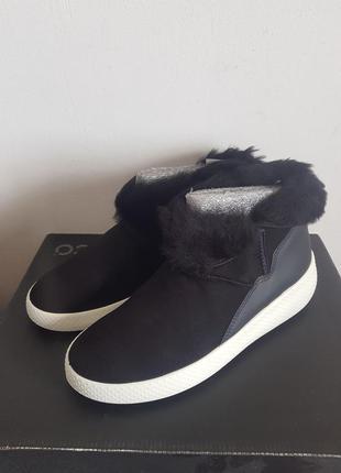 Черные женские зимние ботинки ecco ukiuk 36-41рр