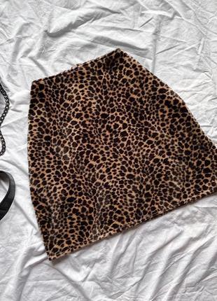 Юбка в актуальный леопардовый принт