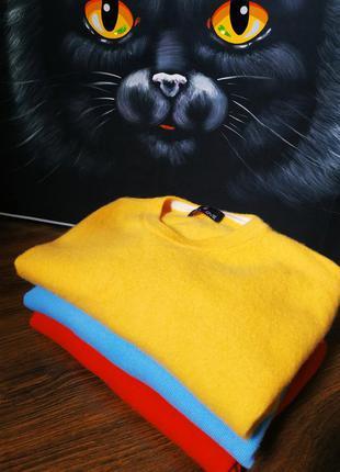 Шерсть кашемир шелк итальянский брендовый свитер кофта джемпер оверсайз pull in love