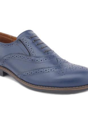 Туфли броги мужские из натуральной кожи