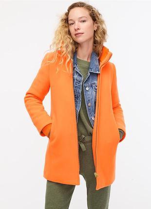 Очень красивое шерстяное пальто американского бренда j.crew размер xs-s