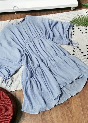 Дуже цікава блакитна сукня zara голубое свободное платье
