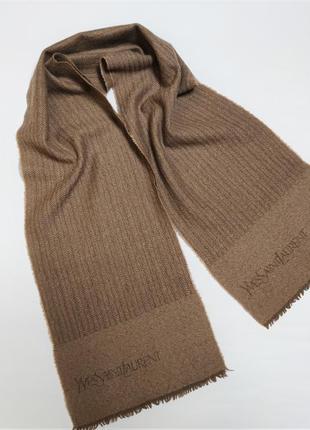 Винтажный шерстяной шарф  yves saint laurent  /5774/