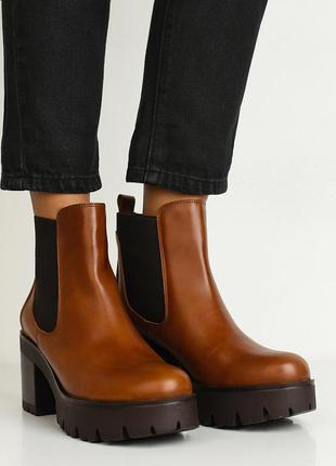 Новые кожаные ботинки la coleccion, испания. натуральные коричневые ботильоны