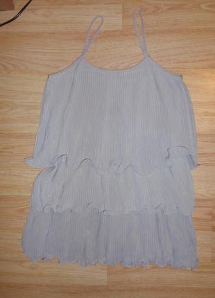 Красивое плиссированное платье h&m