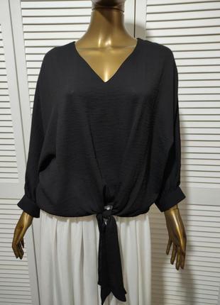 Свободная  блузка с завязкой