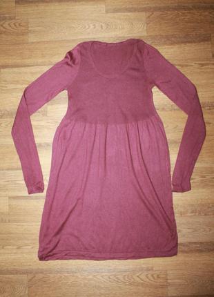Теплое платье-туника подойдет для беременных
