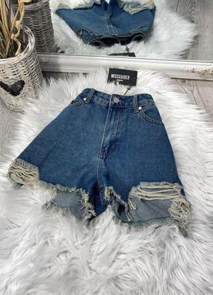 Джинсовые шорты mom