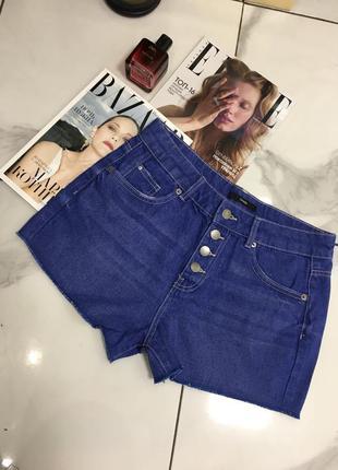 Красивые синие джинсовые шорты с высокой посадкой george  1+1=3 🎁