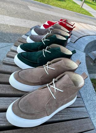 Ботинки лоферы из натуральной итальянской замши! топ продаж!