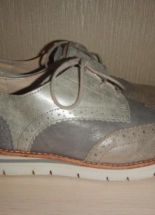 Кожаные туфли gabor р.39(26,5см) кожа