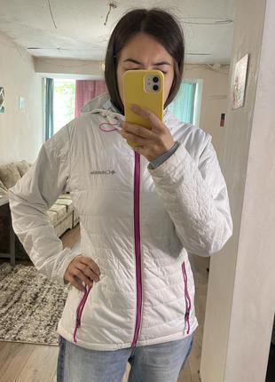 Columbia куртка белая демисезон не холодная зима