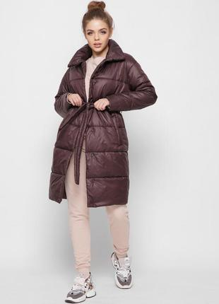 Демісезонна куртка пальто з пояском