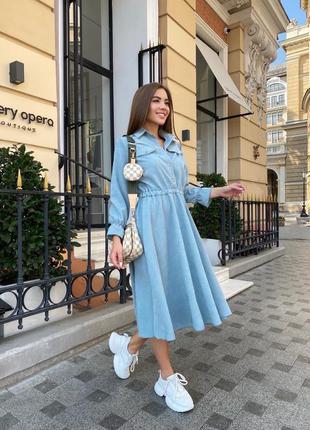 Стильна сукня на осінь вельвет / платье на осень