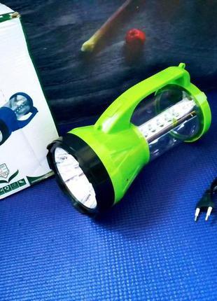 Кемпинговый фонарь 2в1. аккумулятор + солнечная батарея
