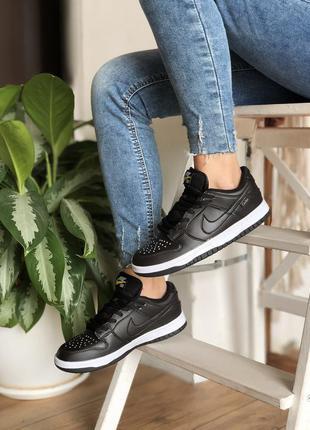 Жіночі кросівки civilist nike sb dunk low / женские кроссовки найк данк черные