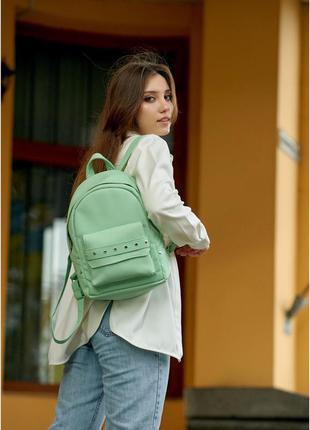 Бомбовский рюкзак экокожа классический базовый городской женский