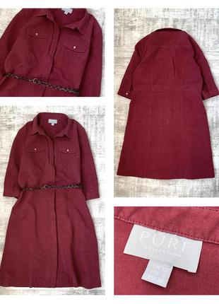 Шелковое льняное платье рубашка pure collection шёлк / лён