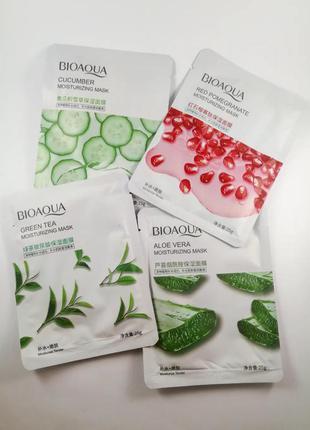 Тканевы масочки для лица bioaqua