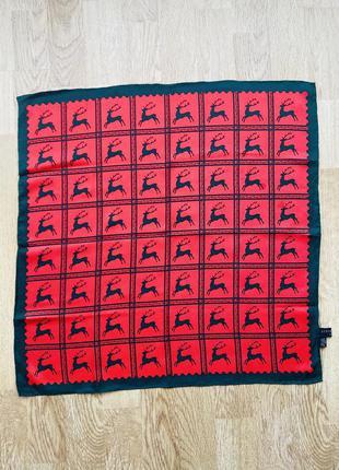 Шёлковый платок strießnig платочек с оленями люксового бренда
