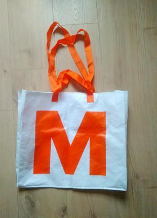 Класна сумка для покупок migros/ міцна сумка з подвійними ручками