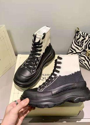 Стильные ботинки / кеды / кроссовки в стиле alexander mcqueen с градиентом