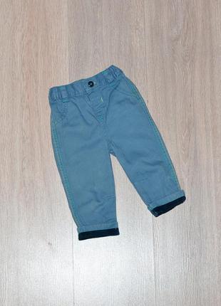 Брюки george 6-9 мес. штаны штанишки штанці штани брючки для малтчика хлопчика модные стильные классные