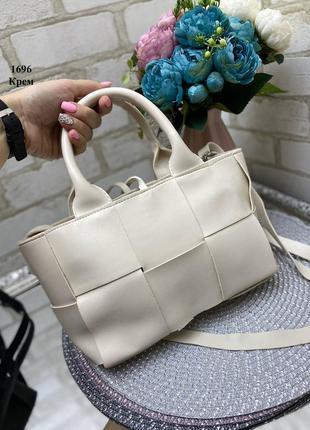 Новая сумка с имитацией плетения