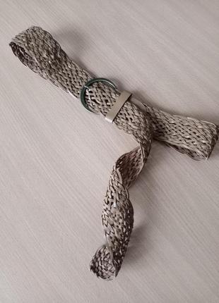 Плетеный ремень из натуральной кожи