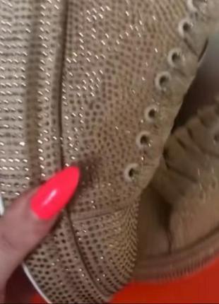 Бомбезные кроссовки,в стразах сваровски, люкс качество, размер 38.