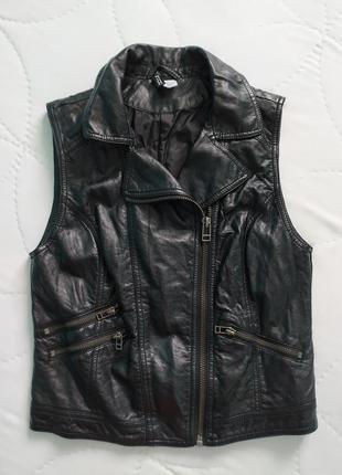 Кожаный жилет-косуха жилетка h&m