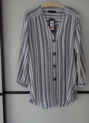 Блуза m&s лен,вискоза