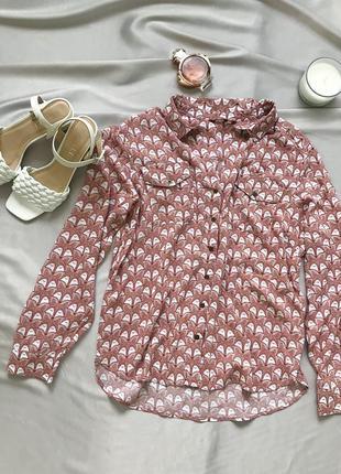 Рубашка с лисичками