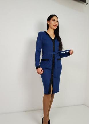 Платье-халат трикотажный, теплый.