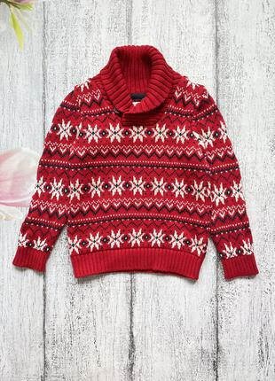Крутая вязаная кофта свитер h&m 4-6лет