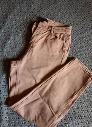 Розовые брюки с высокой посадкой