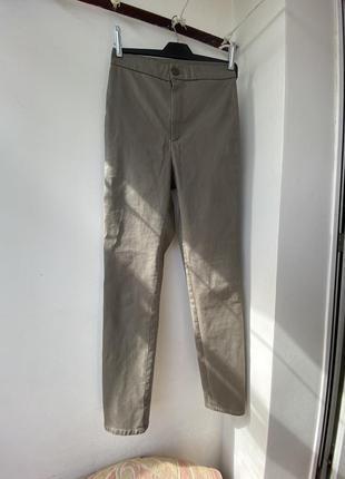 Новые брюки штаны massimo dutti xs s оригинал вымокая посадка под кожу