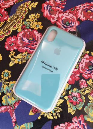 Чехол iphone x xs 10 silicone case айфон чохол (+ стекло в подарок)