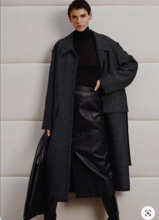 Пальто-тренч cos шерсть 72% на м-l