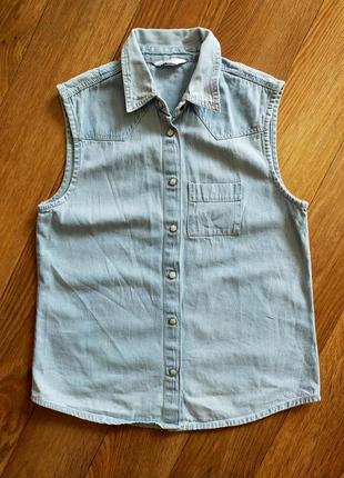 Рубашка, без рукавка, жилетка