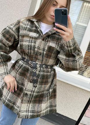 Новая тёплая рубашка пальто италия made in italy тепла сорочка